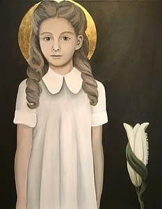Pige med lilje
