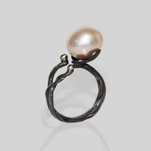 Ring med perle